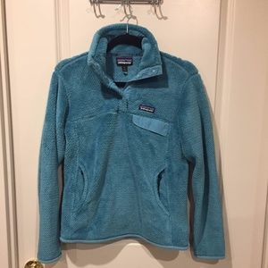 Patagonia Turquoise Re-Tool Snap-T Pullover sz s